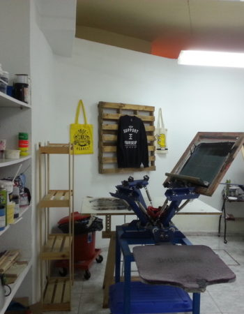 Rental silkscreen workshop in Madrid