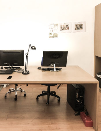 Workspace in beautiful and bright studio
