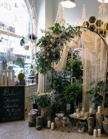 Workshop / office work area is rented to share with floral art workshop and beauty center