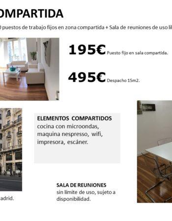 Gran Via Madrid office rental